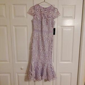Lavender Trumpet Midi Dress